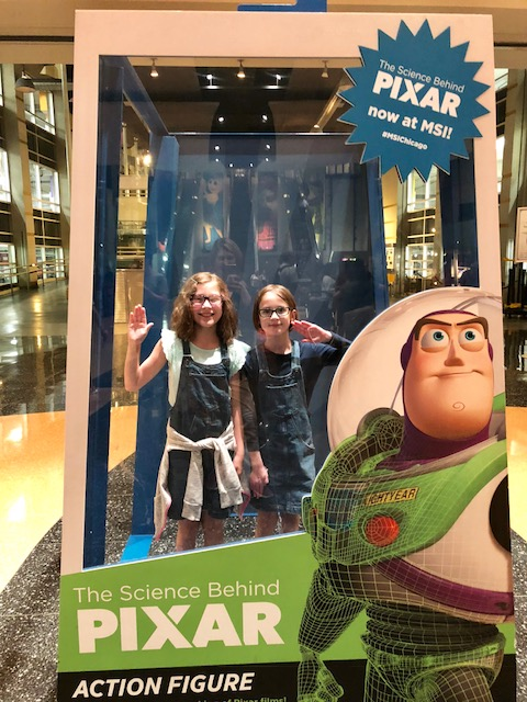 Mo and Gigi in the Science Behind Pixar Action Figure Box.