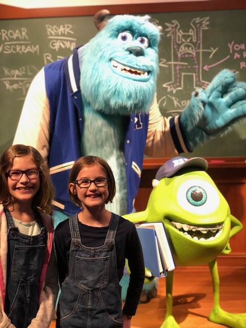 Monsters, Inc display with Sully and Mike Wazowski.