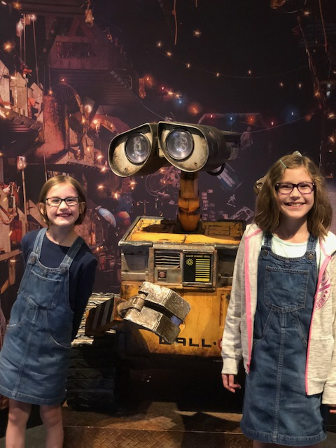 Gigi and Mo hanging out with Wall-E.